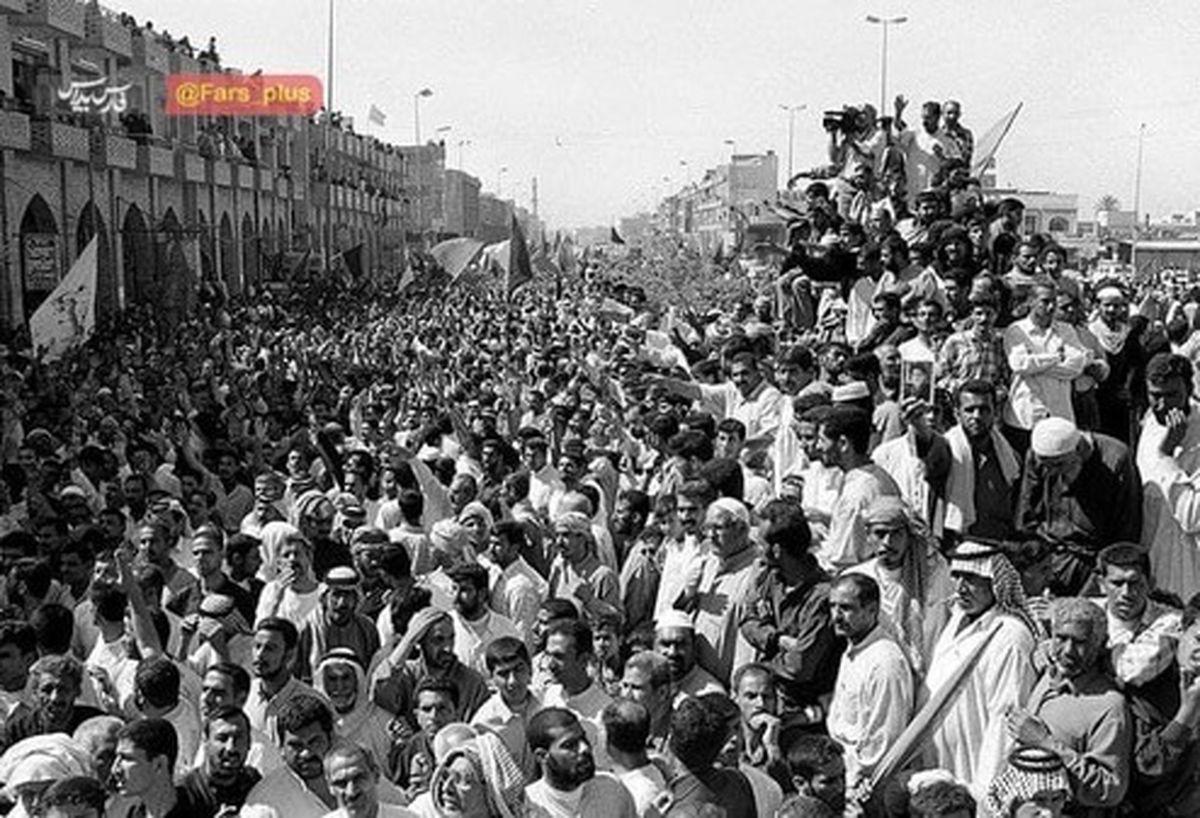 جمعیت عجیب اولین زیارت اربعین شیعیان عراقیها +عکس
