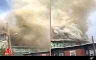 فیلم: آتش سوزی کلیسا در فیلادلفیا آمریکا