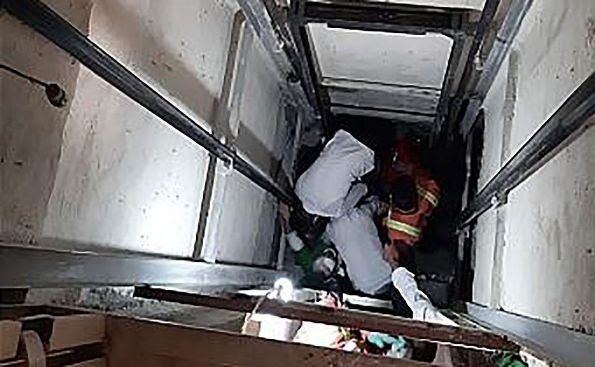 سقوط کارگر ساختمانی به عمق چاهک آسانسور در تهران
