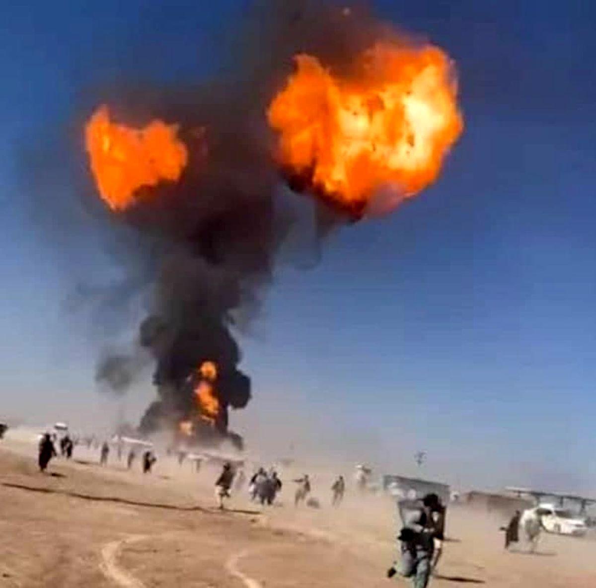 آتشسوزی گسترده در گمرک مرزی افغانستان با ایران