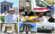 بازیگران در تور واکسن کرونا ارمنستان+عکس