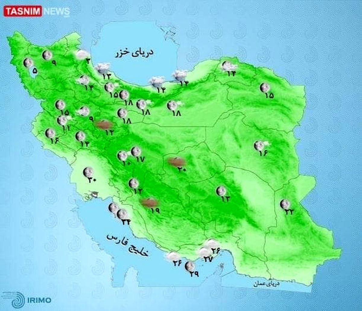 تا پایان هفته آسمان کدام استانها بارانی خواهد بود؟