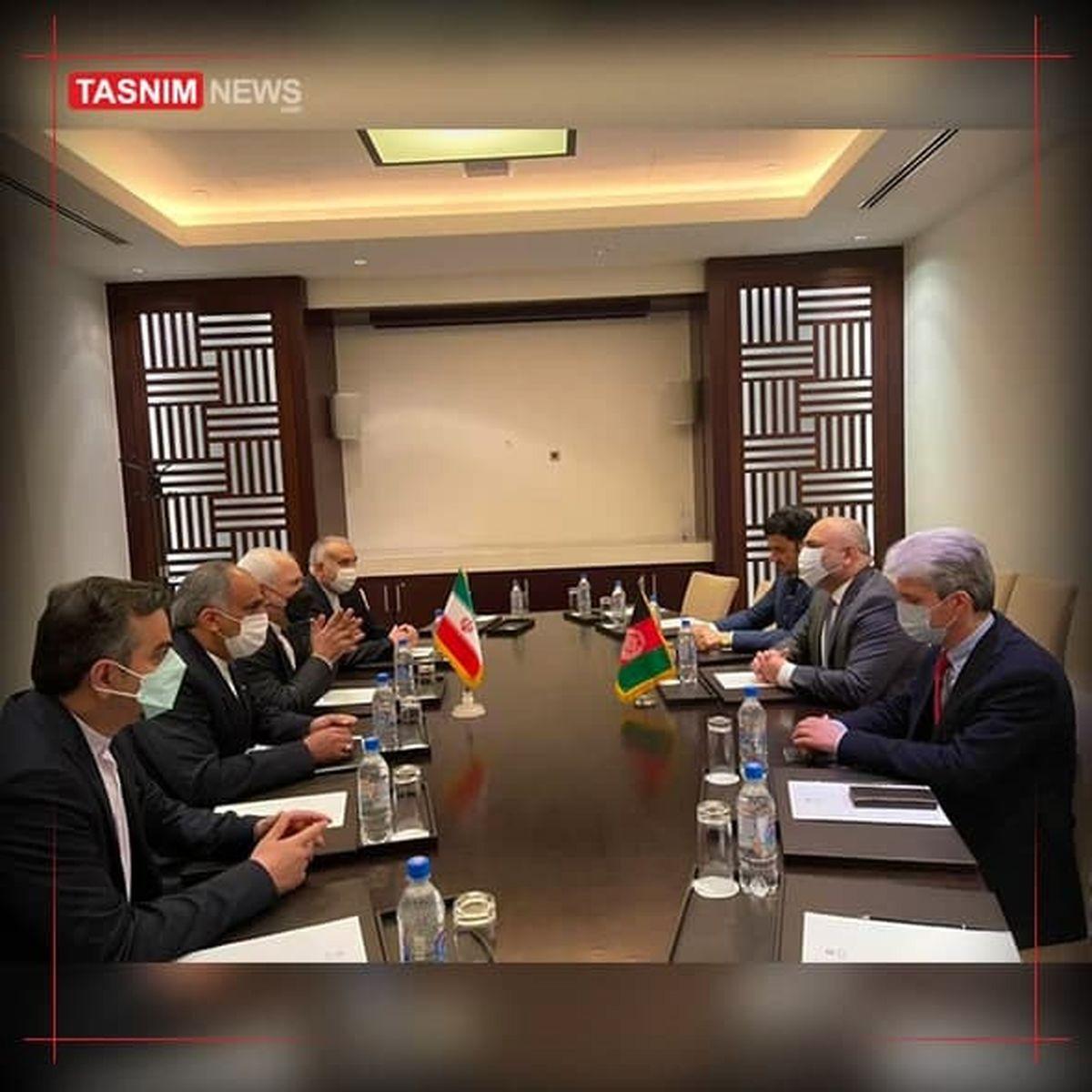 دیدار وزرای خارجه افغانستان و ایران در تاجیکستان +عکس