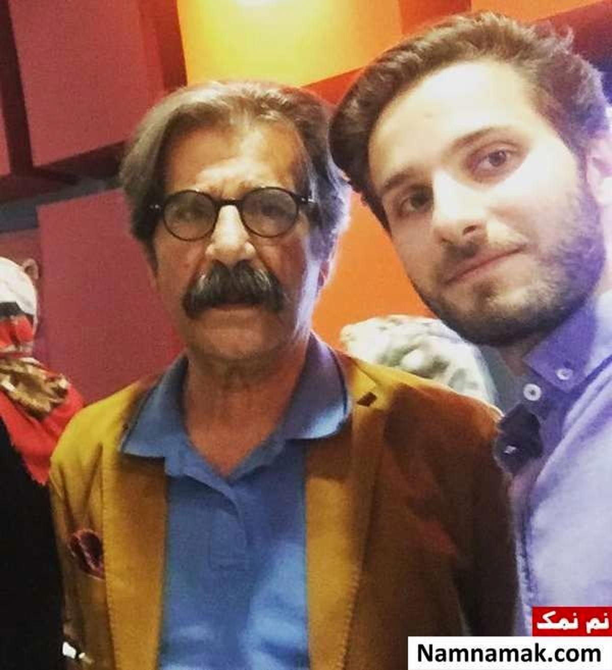 عزت الله مهرآوران در کنار پسرش + عکس