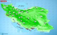 رگبار و رعد و برق در بیشتر استانها