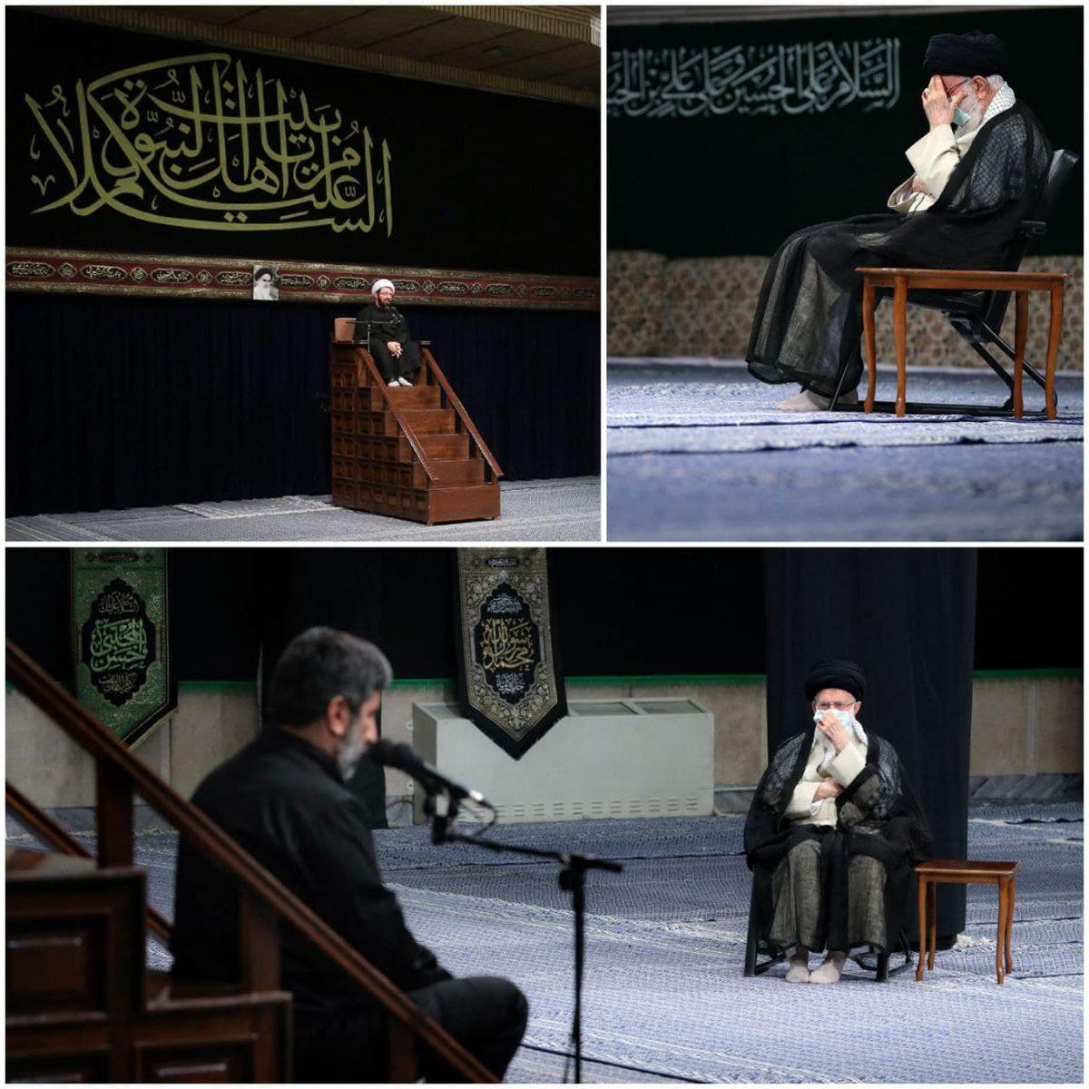 تصاویری از مراسم عزاداری در حسینه امام خمینی