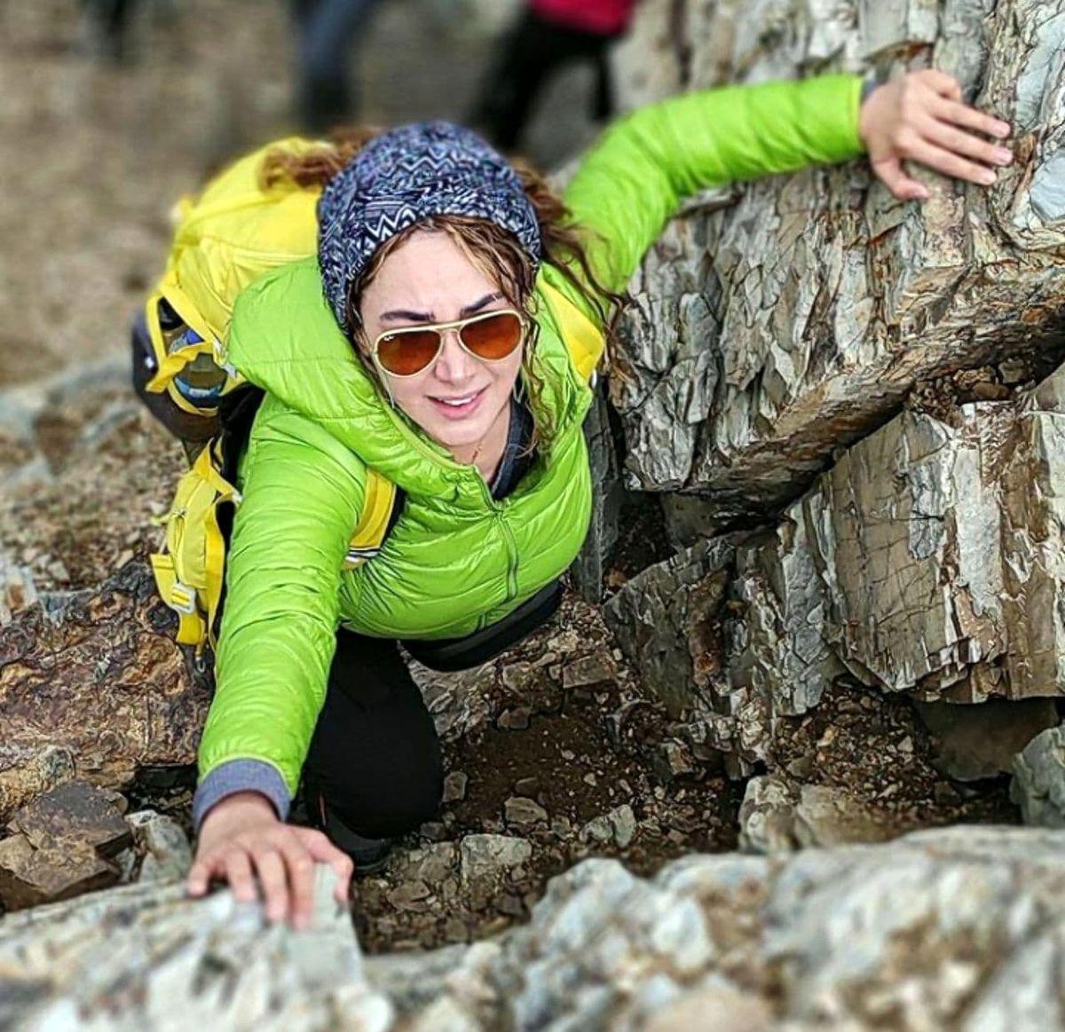بانوی بازیگر و کوهنورد ایرانی +عکس