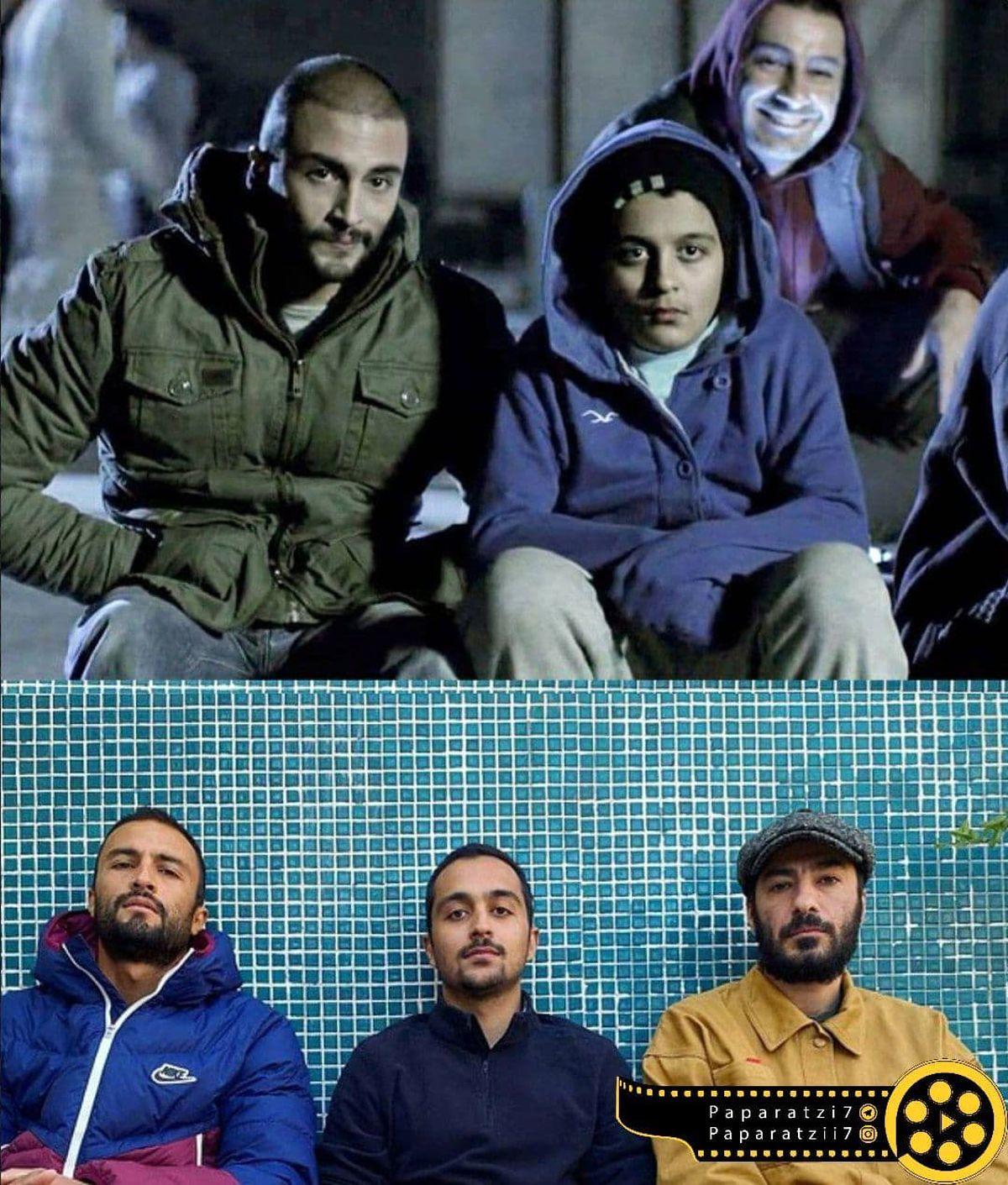 تصویری قدیمی و جدید از بازیگران فیلم سیزده(۱۳۹۱)