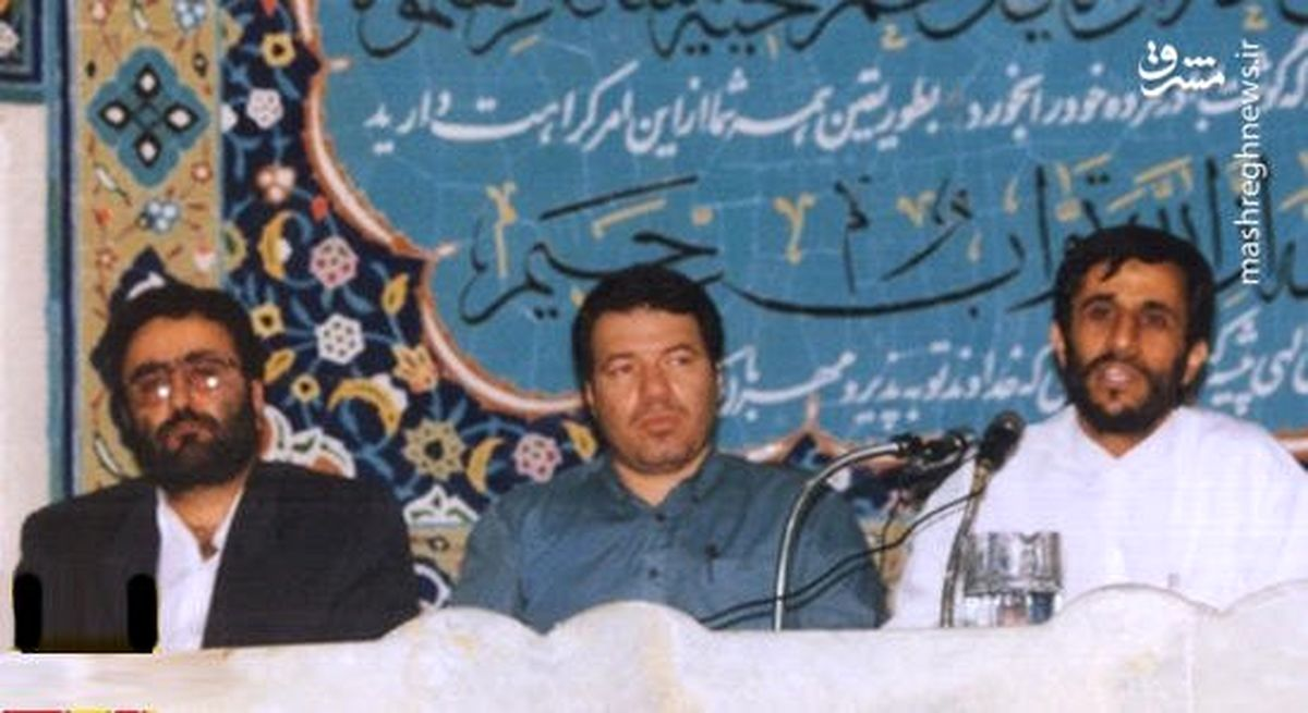 عکسی متفاوت از احمدی نژاد و تاج زاده