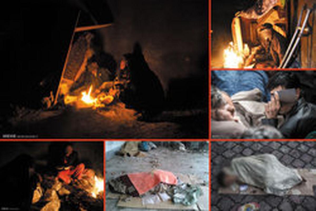«کارتن خوابی» حرفه ای زیر گوش پایتخت +تصاویر
