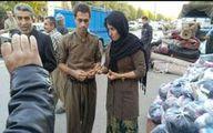 عکس: اهدای حلقه ازدواج زوج کامیارانی به زلزله دیدگان