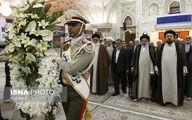تصاویر: حجتالاسلام رئیسی بر مزار شهید چمران