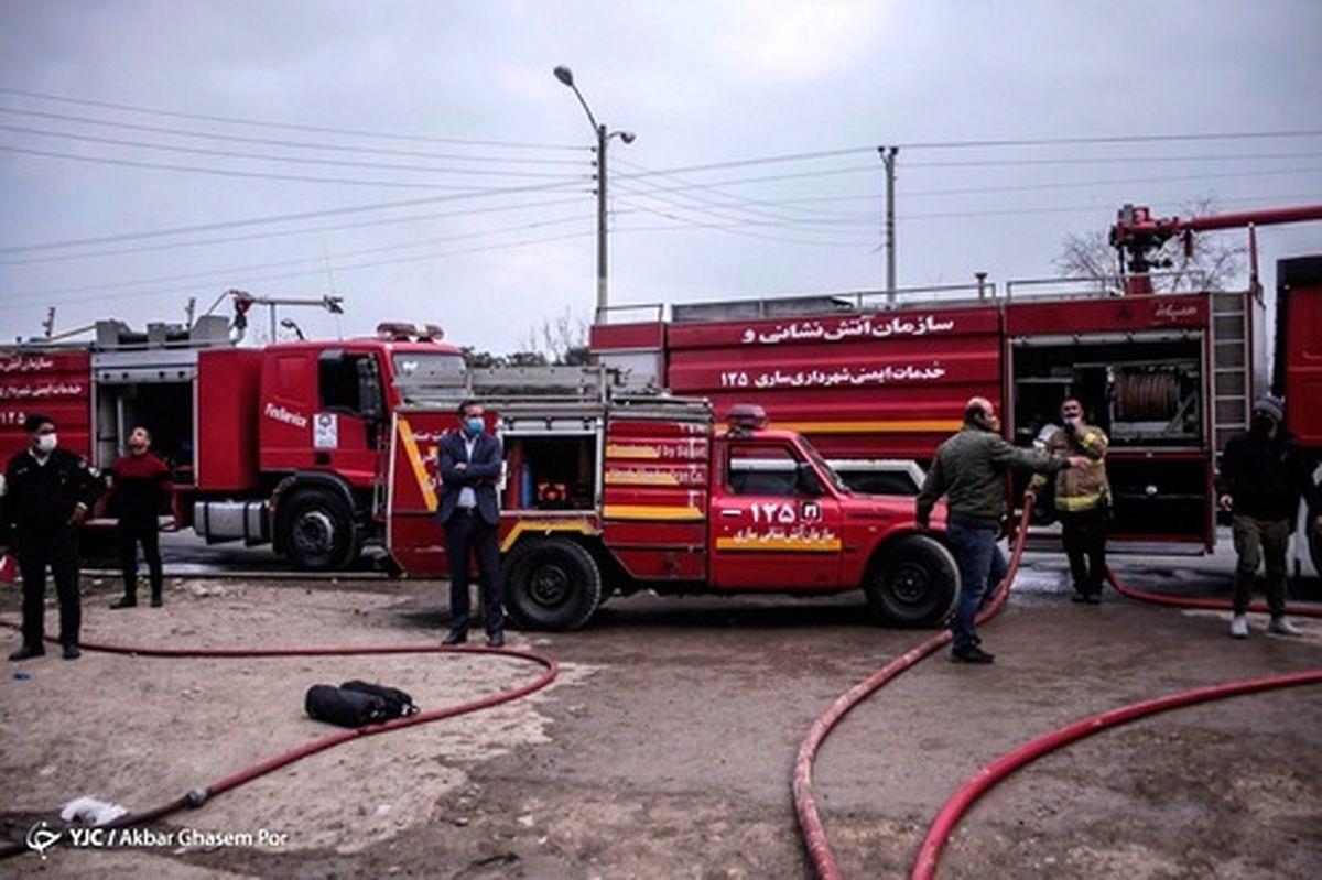 تصاویر: آتش سوزی مجتمع تجاری - مازندران