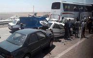 مصدومیت نمایندگان مجلس در تصادف زنجیرهای چابهار +عکس