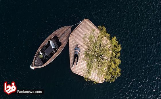 تصاویر: جزیره شناور مصنوعی در دانمارک