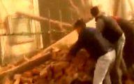 لحظه نجات معجزه آسای یک کودک از زیر آوار +فیلم
