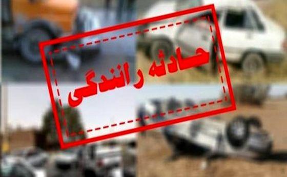 تصادف مرگبار پراید با کامیون در جاده ورامین