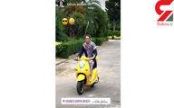 عکس: موتورسواری نوعروس ورزشکار در منطقه لاکچری شمال