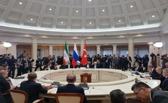 نشست سه جانبه روسای جمهور ایران، روسیه و ترکیه آغاز شد