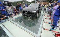 عکس: خودرو سواری روی پل معلق شیشهای چین!