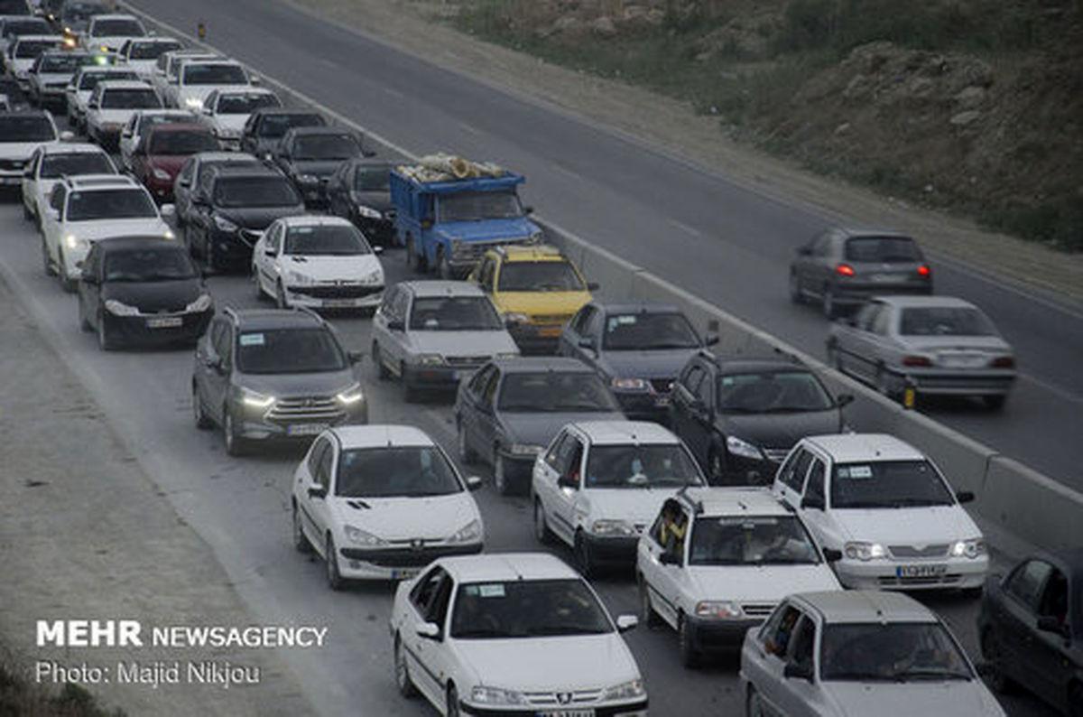 پاشیدن گازوییل در محور هراز حادثه آفرید + فیلم