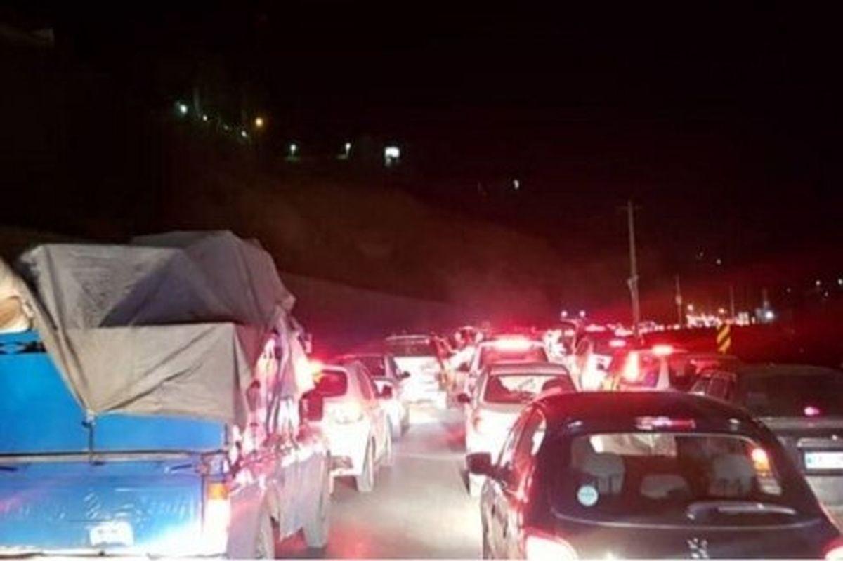 ترافیک سنگین در محور چالوس و آزادراه تهران - کرج