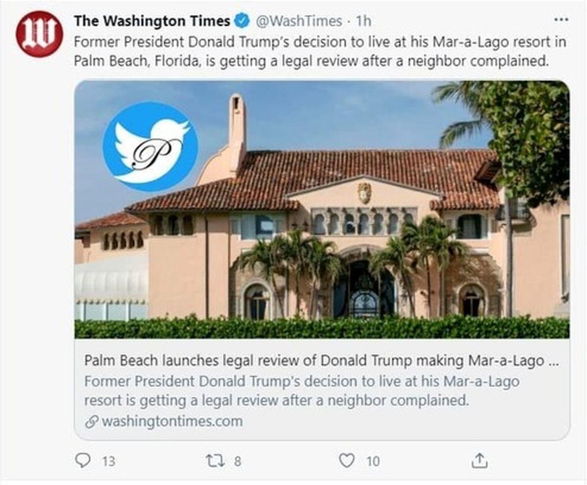 همسایه ترامپ از او شکایت کرد +عکس