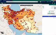 نمایش شیوع کرونا ویروس بر روی نقشه