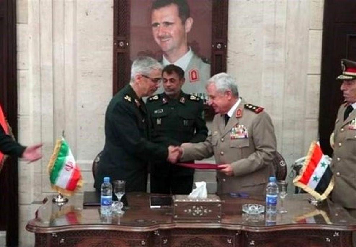 توافق همکاریهای نظامی ایران و سوریه