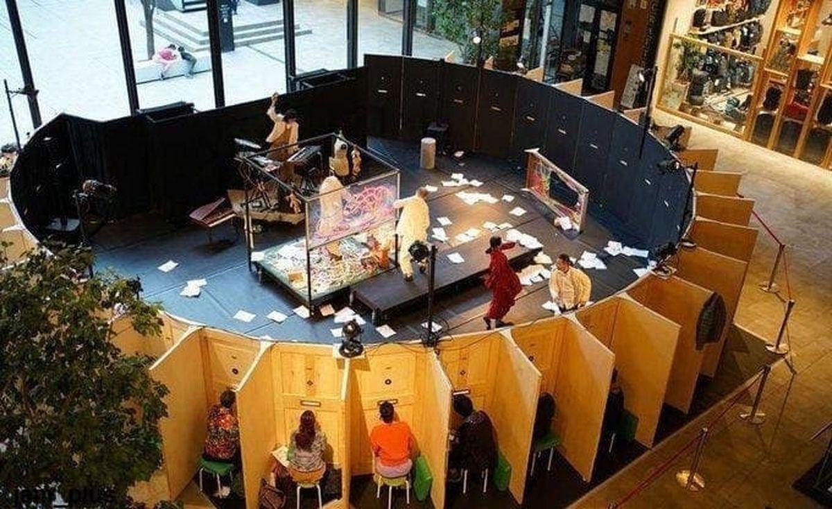 ابتکار یک گروه تئاتر ژاپنی برای تماشاگرانش!