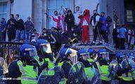 تصاویر: آشوب و درگیری هوادان فوتبال در لندن