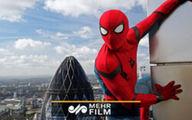 مرد عنکبوتی واقعی در لندن! +فیلم
