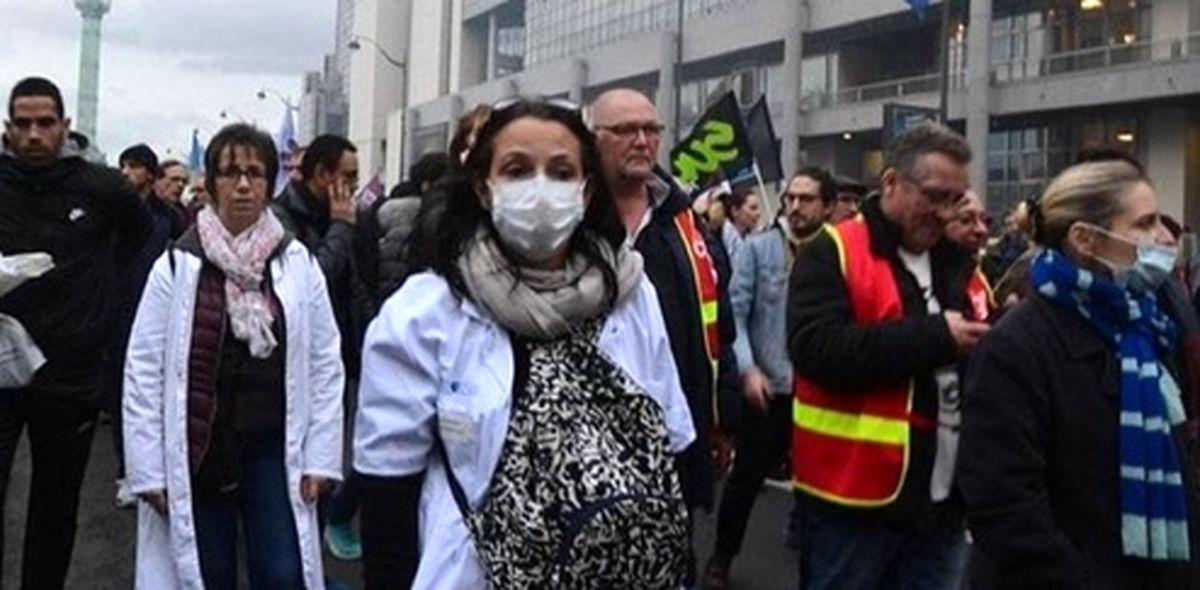 سرکوب اعتراضات مسالمتآمیز پرستاران فرانسوی