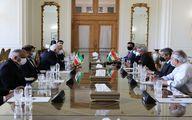 گزارش توییتری خطیبزاده از دیدار امروز وزرای ایران و هند