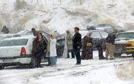 گرفتاری مردم در برف و کولاک «بانه-سقز» +تصاویر
