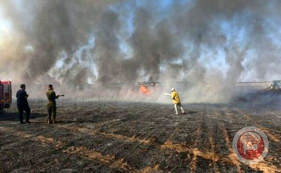 سقوط یک دسته بالونهای آتشزا در پایگاه نیروی هوایی اسرائیل