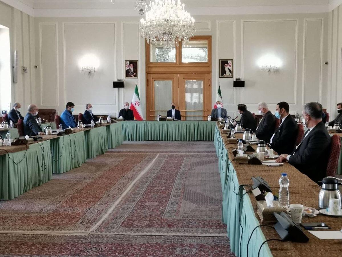 جلسه ستاد کرونای وزارت خارجه به ریاست امیر عبدالهیان +عکس