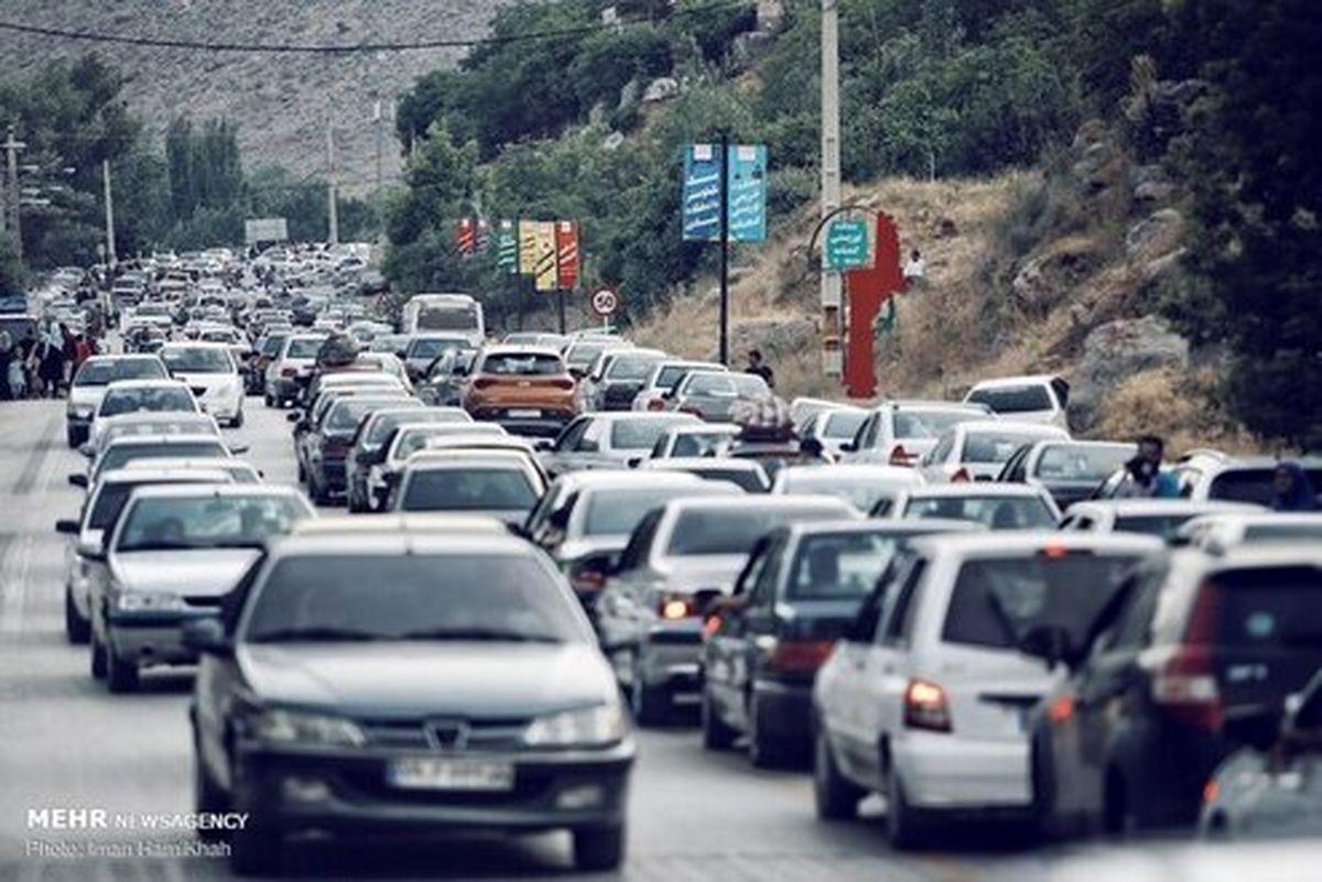 ترافیک سنگین آخرهفته محور چالوس