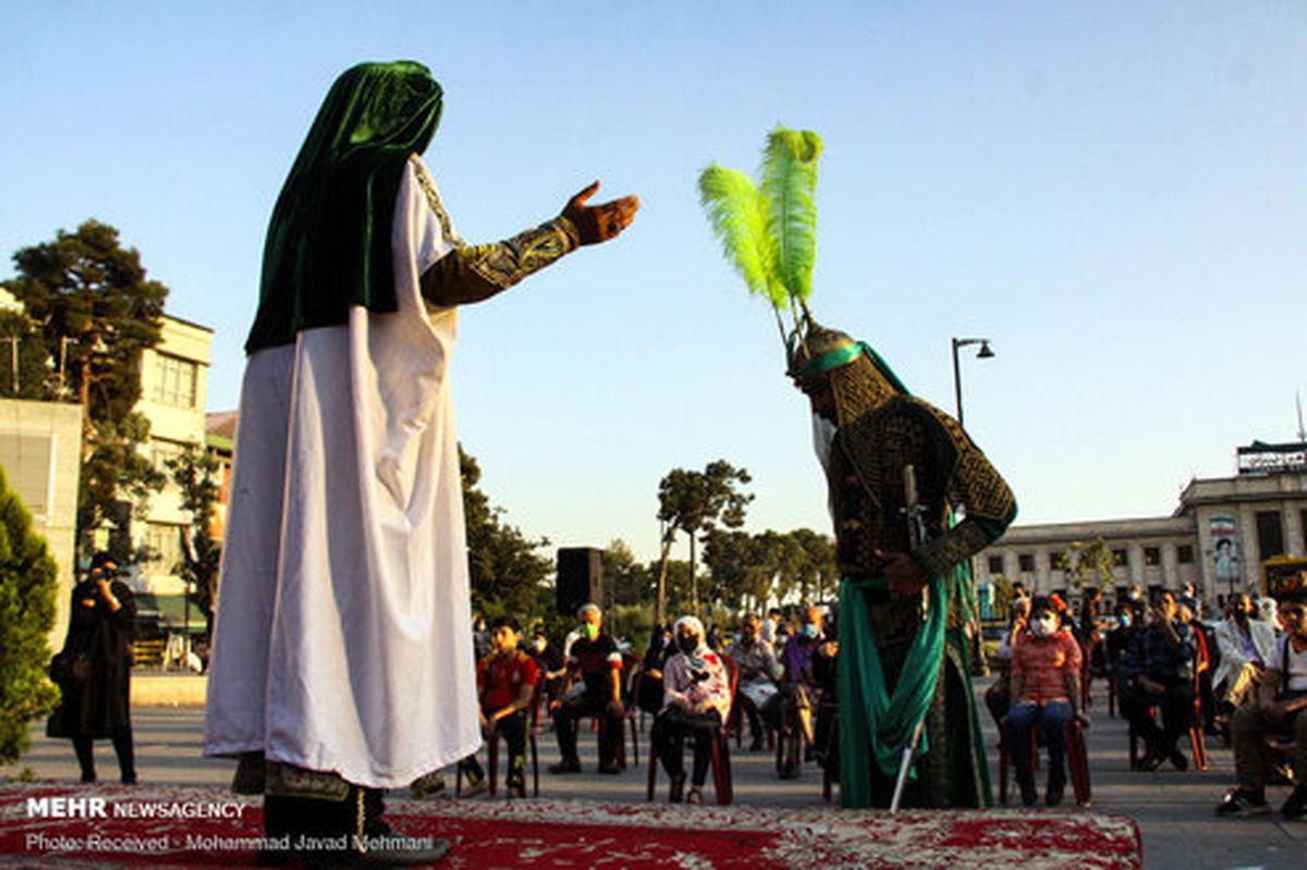 تصاویر: تعزیه خوانی در میدان راه آهن تهران
