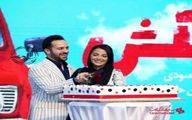 احمد مهرانفر و همسرش کیک ازدواج شان را بریدند +عکس