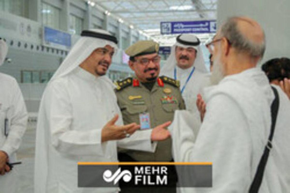 خوشرفتاری ماموران سعودی با حجاج ایرانی +فیلم