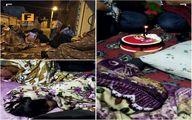 جشن تولد در شب هراس از زلزله در نقده +عکس