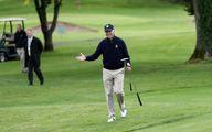 گلفبازی رئیس جمهور آمریکا همه را متعجب زده کرد +عکس