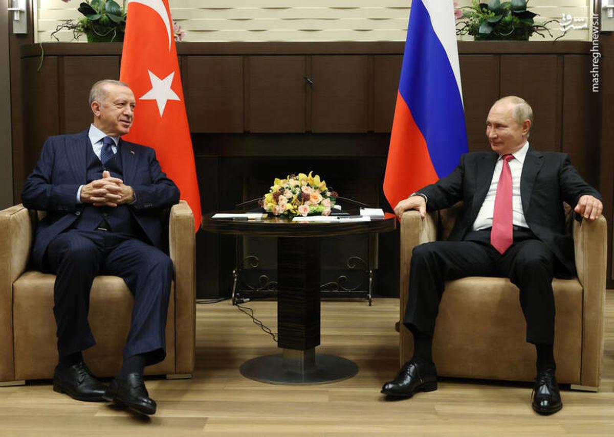 پوتین اردوغان را تحقیر کرد +عکس