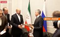 قالیباف پیام رهبر انقلاب را تقدیم رئیس مجلس دومای روسیه کرد +عکس و فیلم