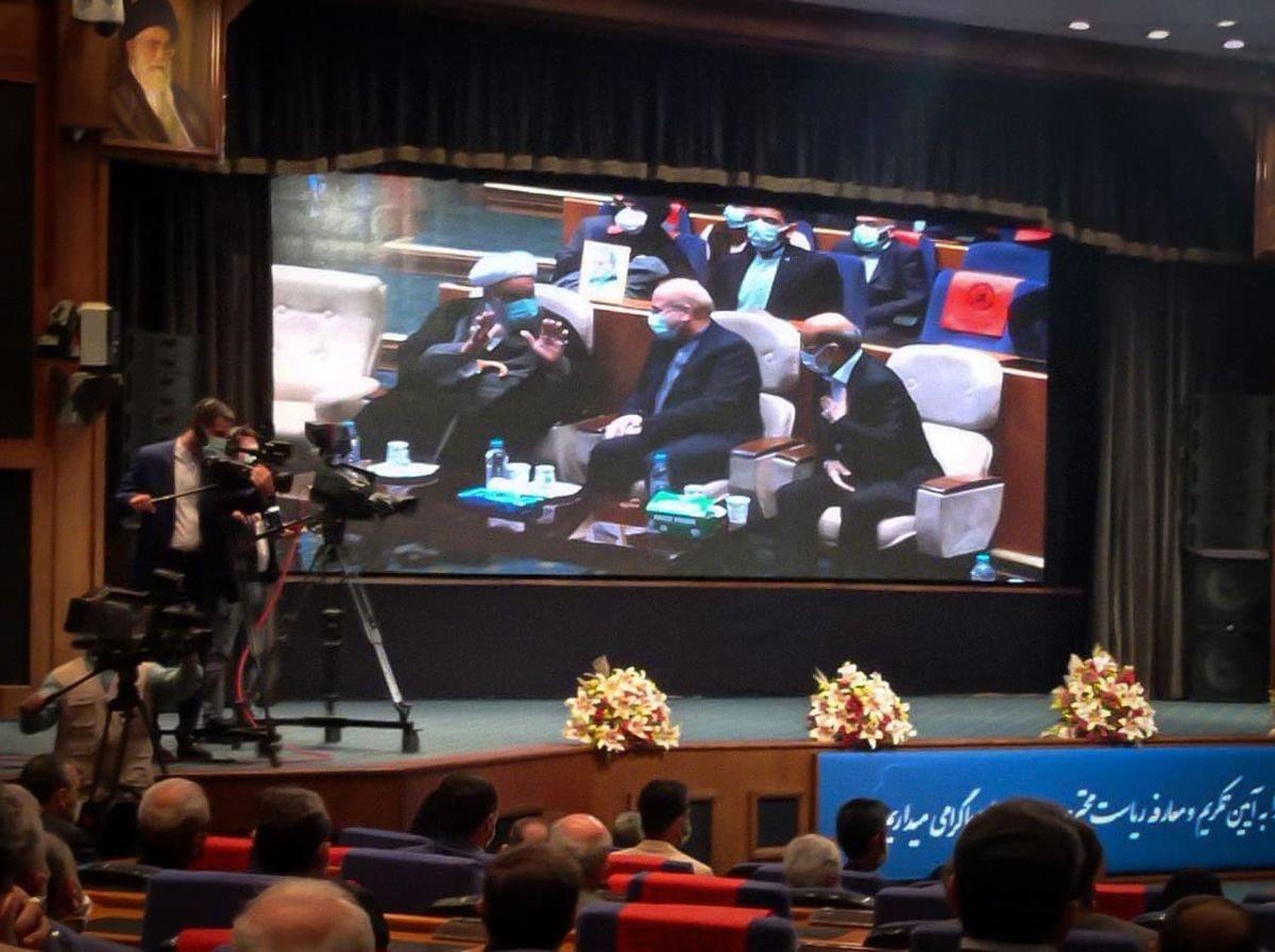 حضور  رئیس مجلس در آیین تودیع و معارف ریاست صداوسیما