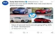 اتفاقی عجیب در بازار جهانی/ خودروهای دست دوم گران شدند!