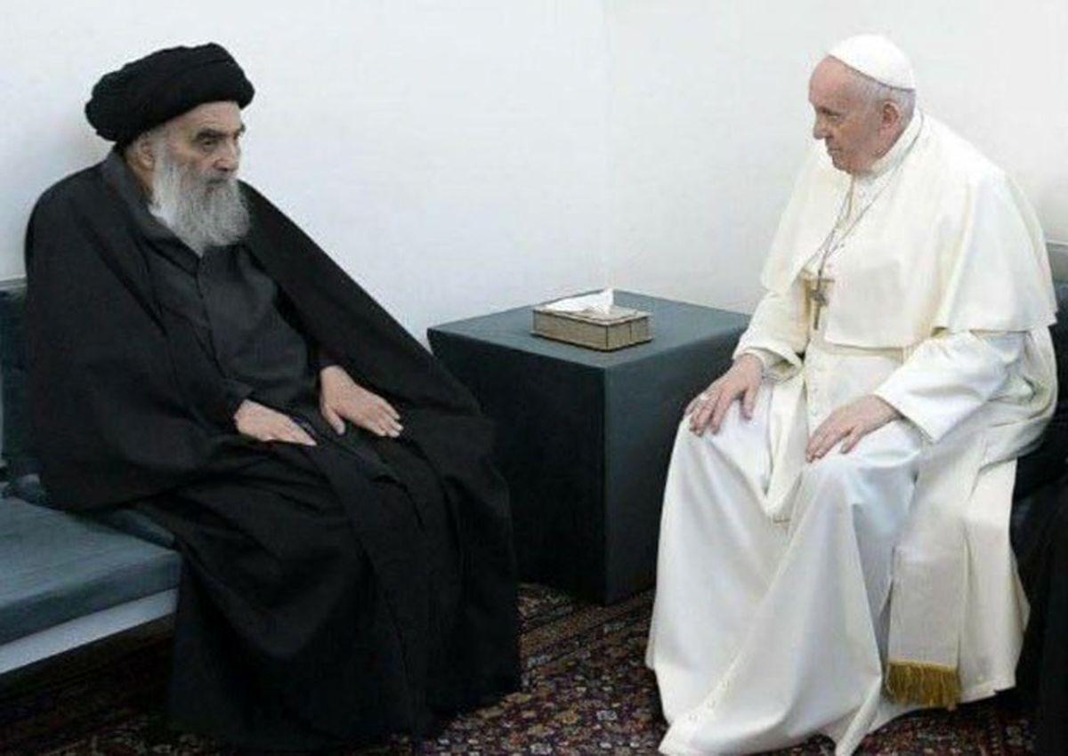 استقبال شبکه های اجتماعی از عکسی از پاپ و آیت الله +عکس