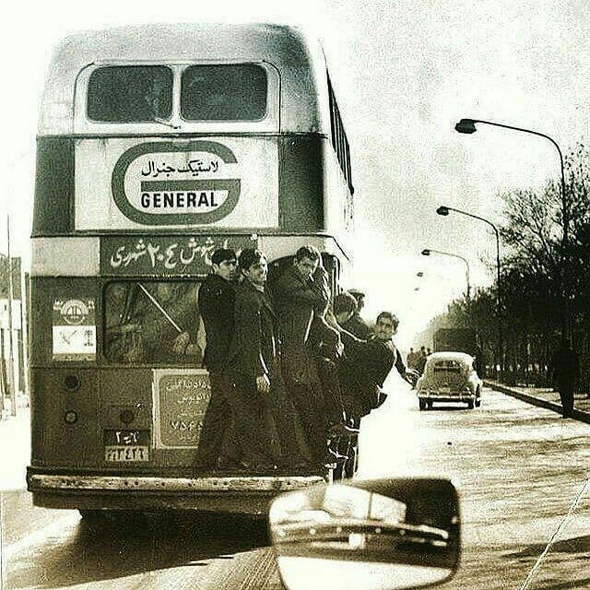 سوار شدن عجیب در اتوبوس در شهرری +عکس