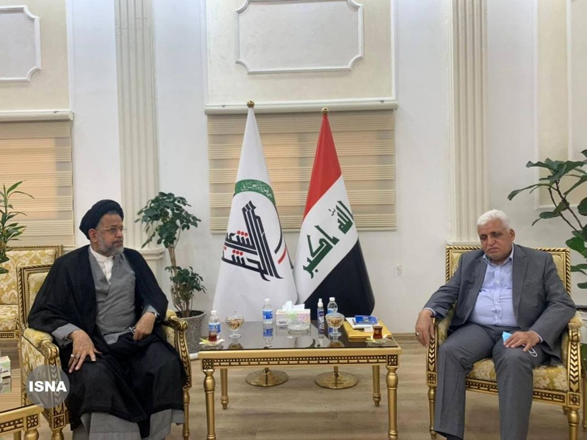 دیدار وزیر اطلاعات با فرمانده حشدالشعبی +عکس